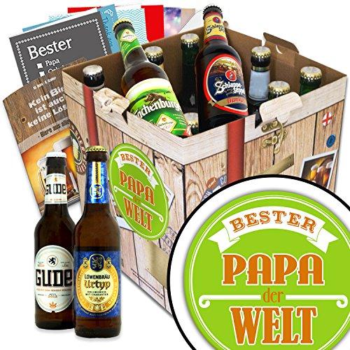 BESTER-PAPA der WELT Geschenkset + gratis Bierbuch + Geschenkkarten + Bierbewertungsbogen. Bier Geschenke für den Lieblings-Papa. Besser als Bier selber machen oder selbst brauen: Vatertagsgeschenke Vatertagsbier lustige Geschenke Vatertag Papa Vatertagsgeschenk Papa Geschenke lustig Papa Geschenke Biergeschenke für Männer Vatertagsgeschenkidee für Papa
