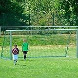 DONET Jugend - Fußballtornetz 5,15 x 2,05 m Tiefe Oben 0,80 / unten 1,50 m, PP 3 mm ø, knotenlos, grün