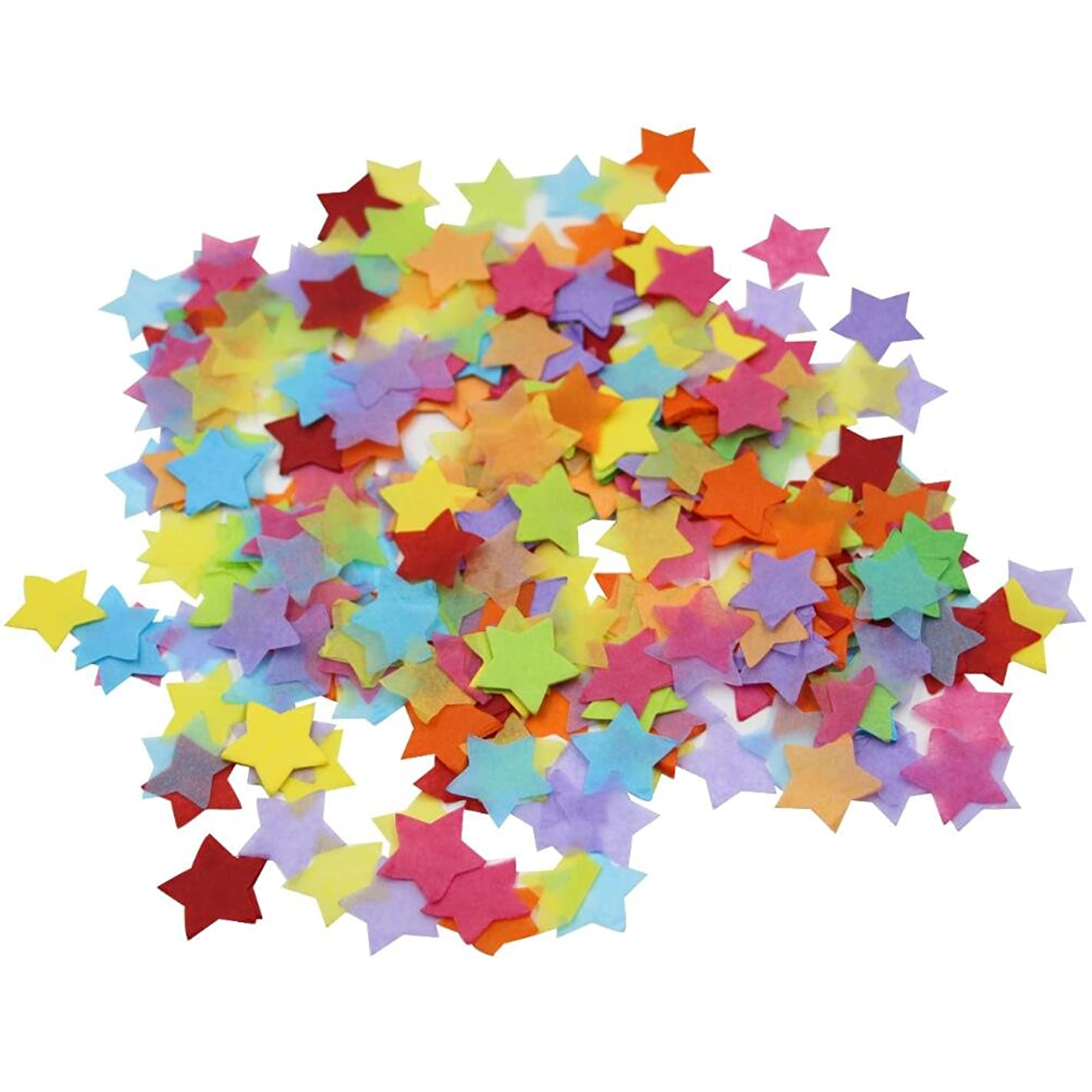 Mybbshower Rainbow Paper Star Confetti Table Scatter for Birthdat Party Pack of 4000 Pieces