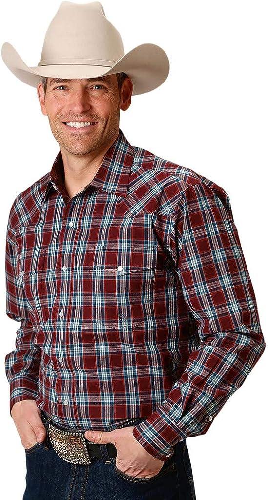 Roper Western Shirt Men Long Sleeve Plaid Snap Red 03-001-0778-6062 RE
