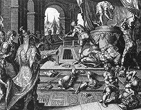 Amazon.com: La destruccion de la Estatua de Bel por Cornelis Cort: Home &  Kitchen