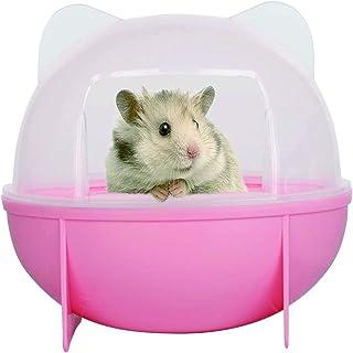 ハムスタートイレ ハムスターハウス バスルーム ラスチックケージ お風呂 トイレ砂の部屋 全3色 シャベル付き (ピンク)