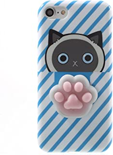 Squishy Cat Case for Galaxy S9,Polar Bear Sleepy Cat Chicken Finger Pinch 3D Silicone Relax Poke Squishy Toys Kawaii Animals TPU Case for Samsung Galaxy S9 (Cat Paw Blue)