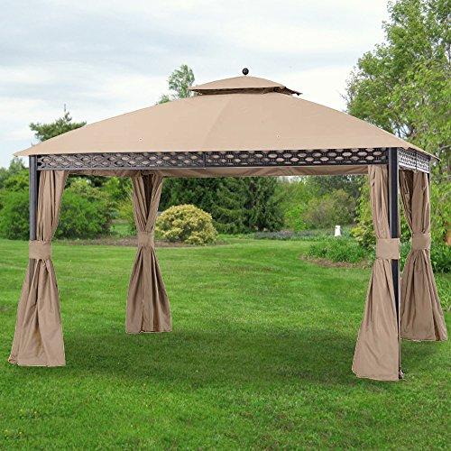 Garden Winds Replacement Canopy for The Pinehurst Dome Gazebo - Standard 350 - Beige - Will NOT FIT Oakmont Gazebo