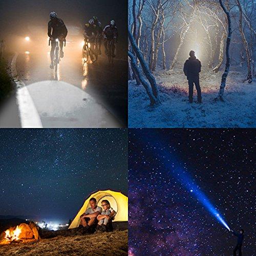 Joly Joy Linterna LED, Ultra Pequeño Lámpara LED Antorcha Ideal para Aire Libre Ciclismo,Camping, Montañismo (Negro-05)