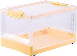 KHDJ Panier de Rangement Boîte Pliante Boîte de Transport Boîte de Rangement avec Couvercle Boîte Pliable en Plastique Tra...
