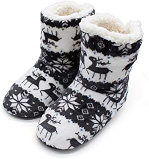 Edited Winter Shoes Men Women Home Indoor Shoes Warm Coral Fleece Soft Christmas Boots Slippers