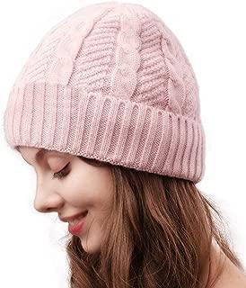 Camptrace Beanie Hat for Men Women Cuffed Winter Hats Cable Knit Warm Fleece Lining Skull Cap