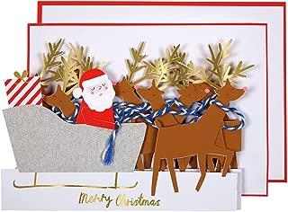 Meri Meri, Sleigh Concertina Christmas Card, Christmas Accessory, Birthday, Party Decorations
