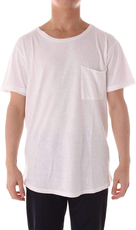 ALTERNATIVE Men's M4133C1WHITE White Cotton TShirt