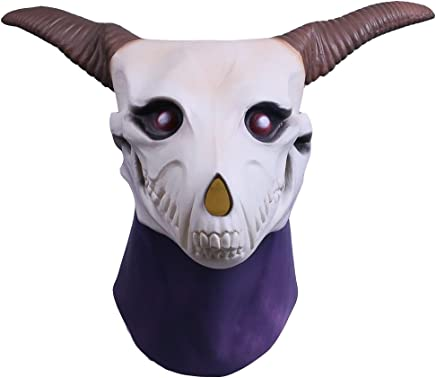 Molagogo Anime The Ancient Magus Bride Elias Ainsworth Masks, Goat Horn Costume Prop Full