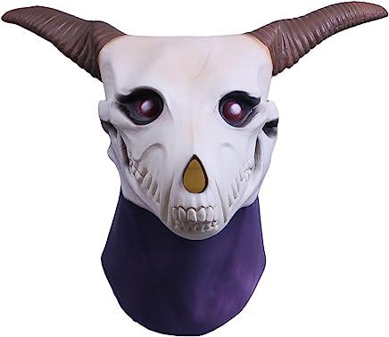 Molagogo Anime The Ancient Magus Bride Elias Ainsworth Masks, Goat Horn Costume Prop Full