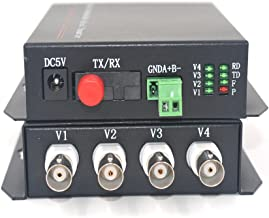 Guantai Multimode 2Km 4 Channels Video to Fiber Optic Media Converters (Tx/Rx) for Analog Cameras Security System