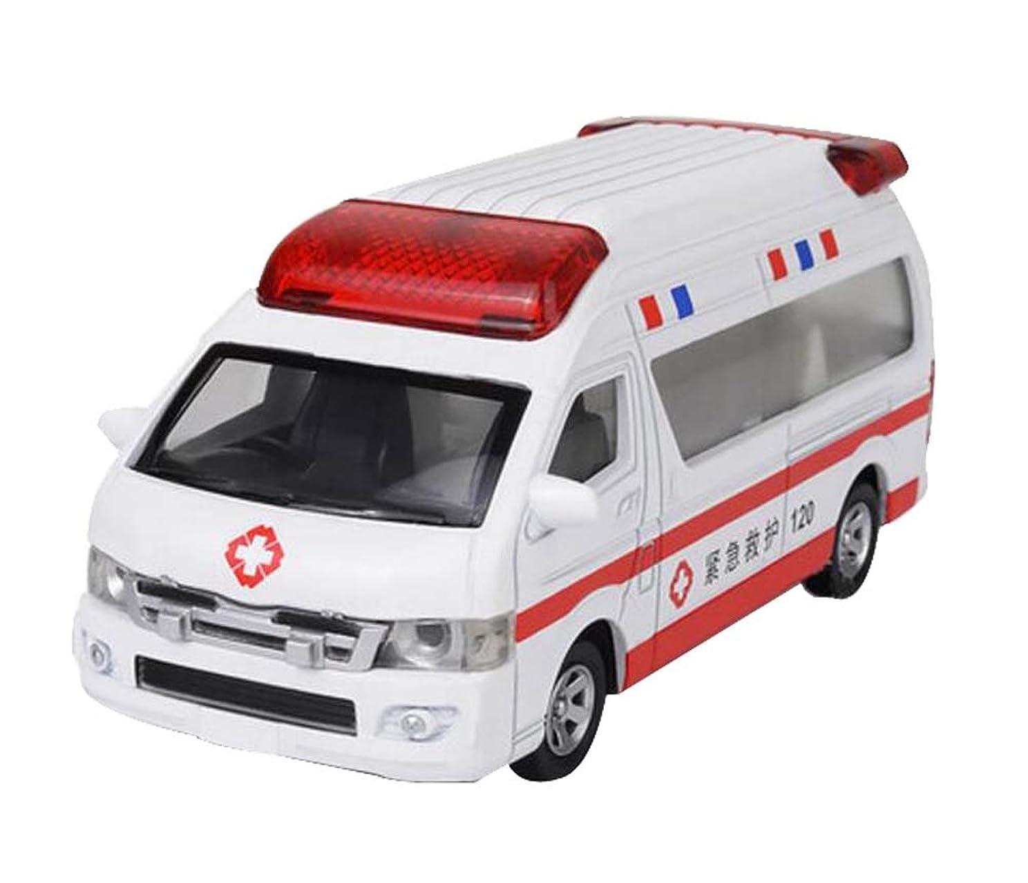 コンパニオンクリーム黄ばむ古典的なemulational 1/32スケール救急車モデル子供の車モデルのおもちゃ