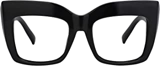 Vintage Oversized Thick Cat Eye Glasses for Women with Clear Lens Alberta FP0668