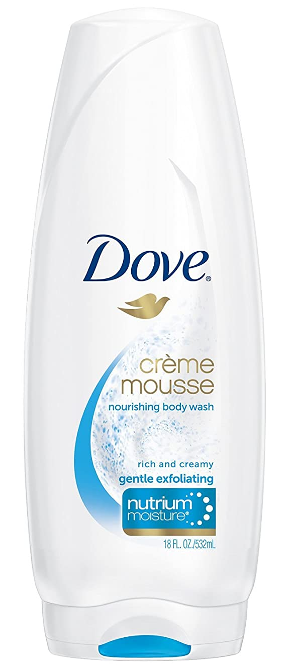 Dove, Nourishing Body Wash, Crème Mousse, Gentle Exfoliating, 18 Ounce (Pack of 3)