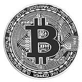 WEFH Moneda Bitcoin Dorada/Plateada Moneda Bitcoins física de Bronce Moneda BTC Coleccionable, Plata