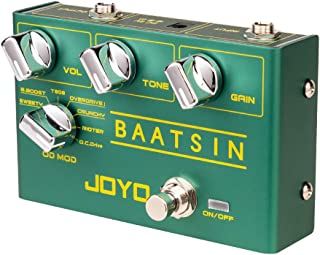 JOYO Baatsin R-11 R Series Pure Analog Circuit Overdrive & Distortion Pedal with 8 Classic OD/DS Sounds Multi Effects for ...