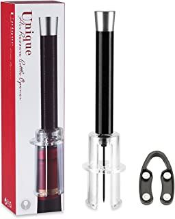 Wine Cork Remover, Aluminum Alloy Body, Air Pressure Pump Opener, Corkscrew, Bottle Opener, with Foil Cutter, Cork Out Tool