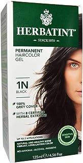 Herbatint Permanent Haircolor Gel 1N Black 4.56 fl oz (135 ml)