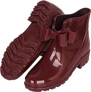 Womens Rain Boots Short Rubber Boot Waterproof Work Garden Shoes Anti-Slip Outdoor Ankle Wellies