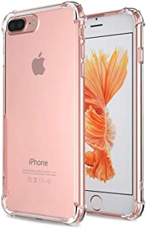 Designed for iPhone 8 Plus Case,iPhone 7 Plus Case,iPhone 7/8 Plus Crystal Clear Shock Absorption Technology Bumper Soft TPU Cover Case for iPhone 7 Plus (2016)/iPhone 8 Plus (2017) – Clear