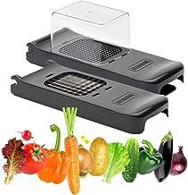 """Alligator Vegetable Chopper Set - Black Edition - 1/4"""" + 1/2"""" Chopper - Sharp, Safe Blades"""