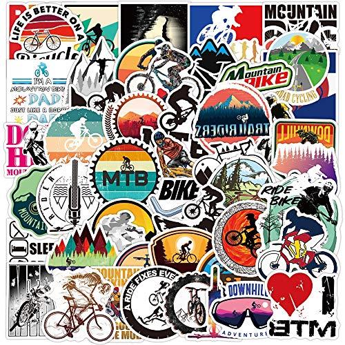 YOUYOU Bicicleta de montaña Mtb etiqueta portátil guitarra equipaje monopatín móvil impermeable Cool Doodle etiqueta engomada niños juguetes 50 unids
