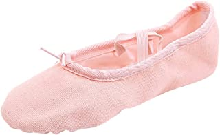 Padaleks Dance Women's Performa Stretch Canvas Split Sole Ballet Slippers/Shoes for Girls Comfortable Soft Bottom