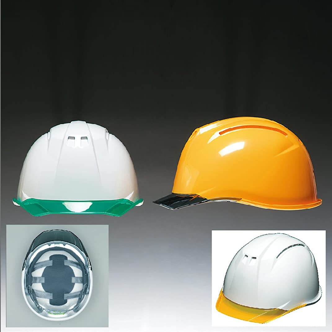 新年インディカウィザード高品質 安全ヘルメット[DIC HELMET]安全ヘルメット(AA11-CW)白×蛍光オレンジ