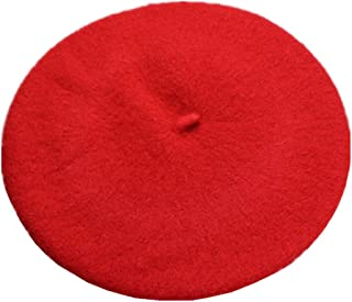 Kids Girls Boys Solid Color Classic French Style Beret Beanie Hat