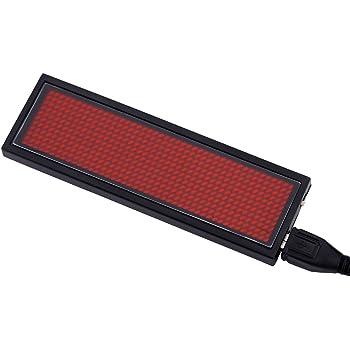 Micro USB Ricaricabile,Nuova Versione 12 Tag Badge Programmabile con Targhetta Identificativa a LED VADIV NT02 Badge Porta Magnetica con Magnete a Scorrimento 48 Verde