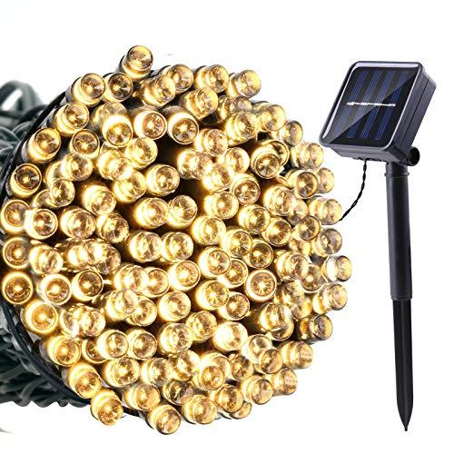 Joomer Solar String Lights 39ft 100 LED 8 Modes Outdoor...