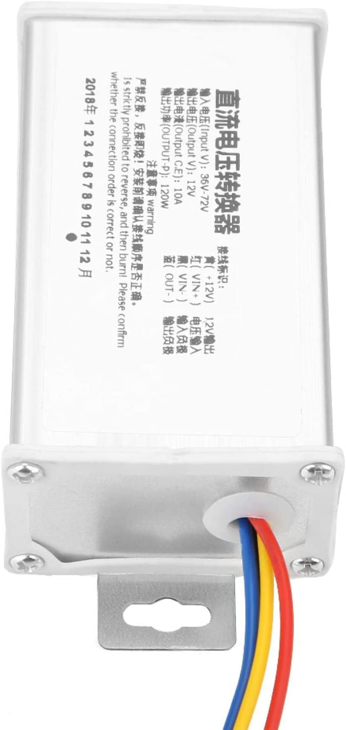 Dc Converter, Step-down Power Supply Module 36v-72v to 12v 10a 120w, Stable Performance, Long Service Life, Compact Size and Light Weight, for 12v Electronic Devices
