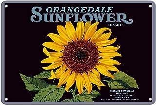Pacifica Island Art 8in x 12in Vintage Tin Sign - Orangedale Sunflower Brand - California Oranges