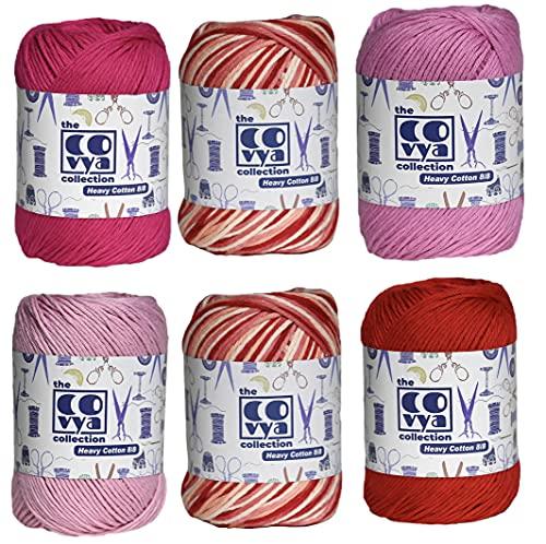 KACHVI 100% algodón 8/8 capas hilo bolas para tejer ganchillo decoración té...