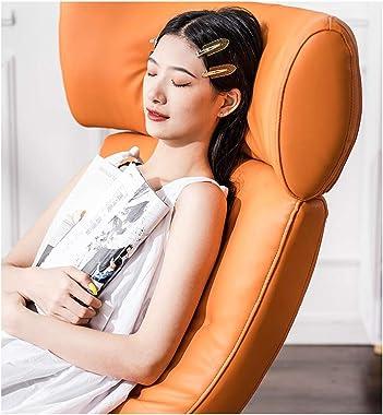 Kyydod-Rocking Chair Rocking Chair Recliner Nordic Luxury Balcony Living Room Garden Courtyard Leisure Lazy Sofa, Orange 87x7
