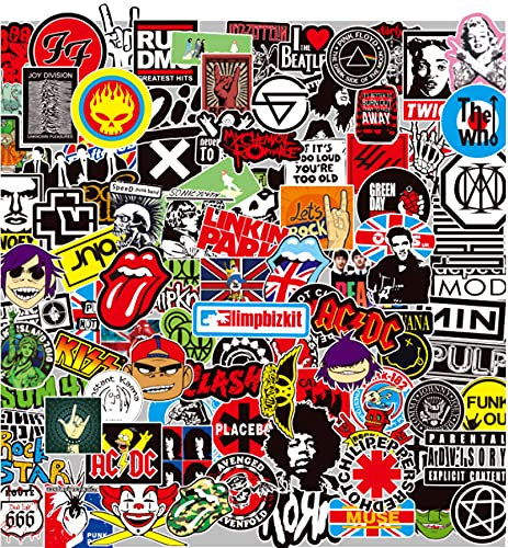 BaiMENG Metallo, Nirvana, Ac/Dc Rock Band Logo Adesivo Fai Da Te Valigia Chitarra Casco Skateboard Impermeabile Adesivo 102 Pz