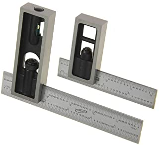 """iGaging 4"""" & 6"""" Double Square Set 4R Steel Blade High Precision Woodworking"""