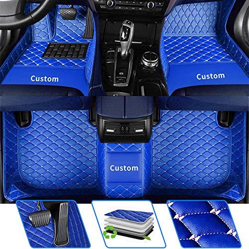 Tapis de sol de voiture sur mesure pour 98 % SUV/Truck/Van/Sedan modèles de voiture - Tapis de sol en cuir - Bleu