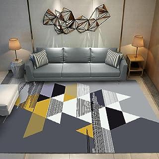 Tapis Chambre Tapis de Salon Style Moderne Triangle géométrique Jaune Simple Paillasson intérieur extérieur antidérapant, ...