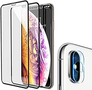 Screen Protector iPhone Xs Max 6.5-Inch [Full Coverage Tempered Glass + Camera Lens