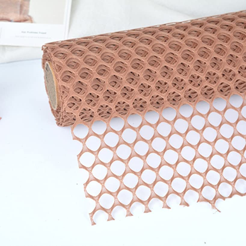 BBC Circle Net Flower Packaging Material Flower Shop Packging Material 23.6 Inch x 5 Yard (Coffee)