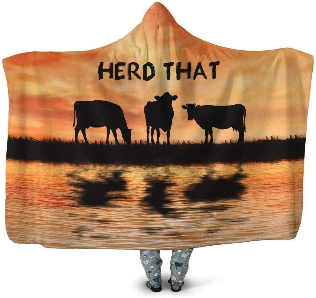 Personalized Herd Sales of SALE items from new works That Cow Hoodie - Bla Oversized Blanket Hooded Direct store