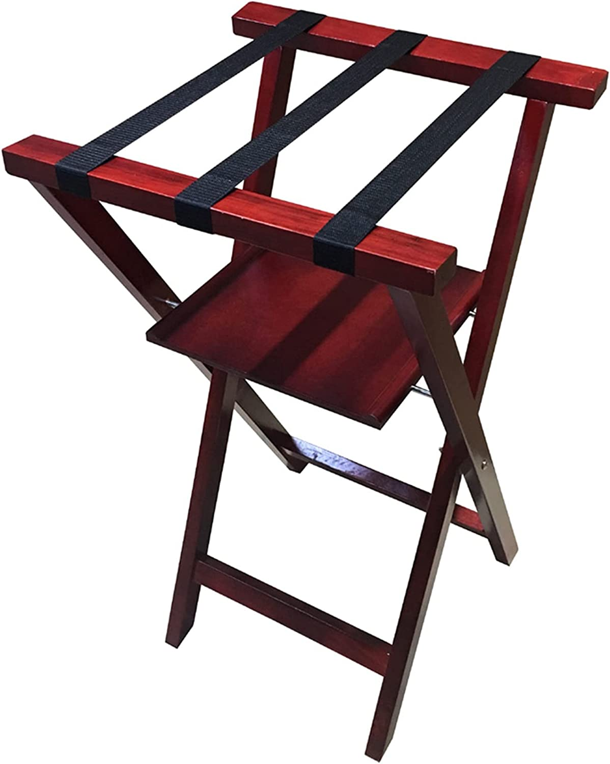 X-Shaped Luggage Rack Floor-Standing Max 83% OFF Solid Wood Double-Layer Selling and selling St