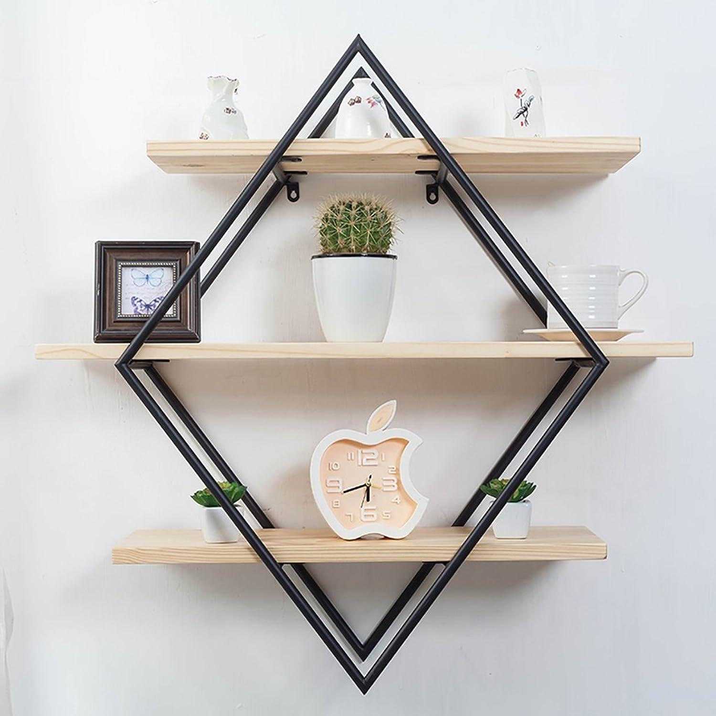 Wall-Mounted Storage Rack Shelf Multifunctional Lattice Iron Cubic Shelf Bookshelf Separator Floating Unit Frame Wall Decoration (Size   80 cm)