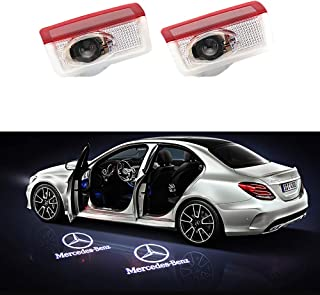 MASHA 2PCS Car Door LED Light Projector Ghost Shadow Lights Welcome Lamp for Mercedes Benz Compatible W205 W212 W213 W176 W166 W177 W247 W292 W156 X253 V177 Amg Accessories