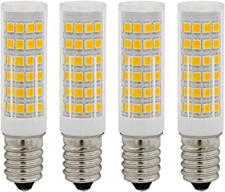 E11 LED Bulb Dimmable 60W 75W 100W Halogen Bulbs Equivalent 4pack in a Box JD e11 Mini Candelabra Base 2700K Warm White AC110V 120V 130V for Chandeliers Ceiling Fan Light