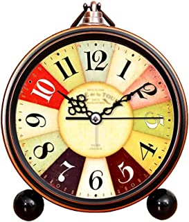 Alarm Clock الجدول ساعة صامتة ساعة الرجعية سطح المنزل المنبه ساعة مكتب ساعة نوم السرير الجدول الجدول بطارية البندول بالطاق...