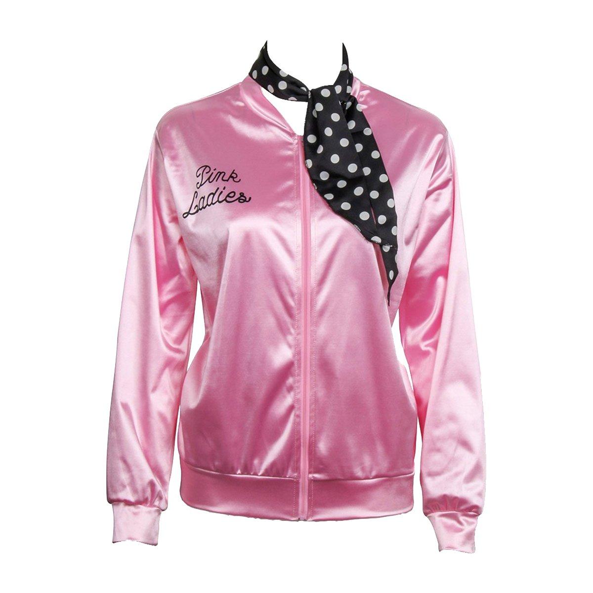 Nofonda Chaqueta de Pink satén Disfraz de Lady con pañuelo de ...